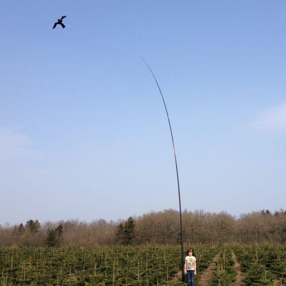Hawk Vogelscheuche Drachen mit 10 meter lange Teleskop 17m/s