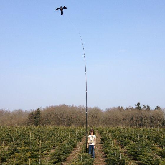 Hawk Vogelscheuche Drachen mit 7 meter lange Teleskop, bis 17 M/S Wind