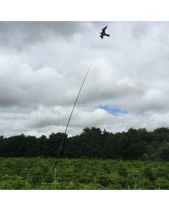 Habicht Drachen mit 7 Meter Teleskopstange, Drehfuß® bis 22 M/S Wind