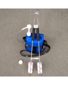 Chemie Stange (winkel) mit Flasche und Pumpe