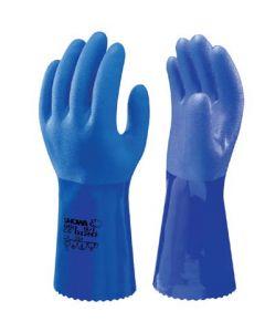Handske showa oil Resist 30 cm Blå Str. 10