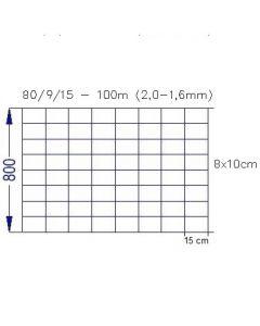 Vildthegn 80 cm høj 100 meter rulle