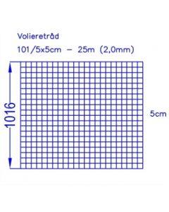 Volierenzaun 102/5x5 (25m)
