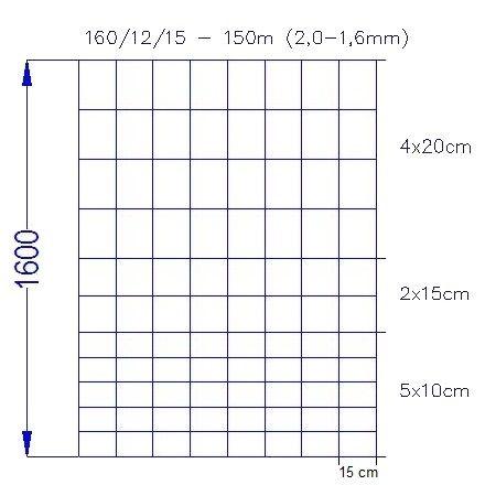 Wildlife Zaun 160/12/15 (150m)